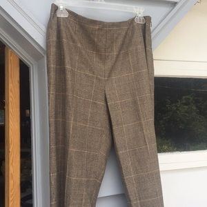 Size 8 Dana Buchman herringbone plaid pants slacks